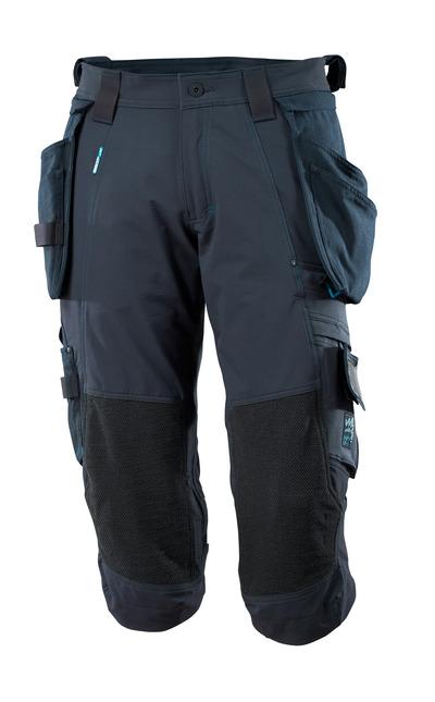 MASCOT® ADVANCED - mørk marine - Knickers med aftagelige hængelommer, firevejs-stretch, lav vægt.