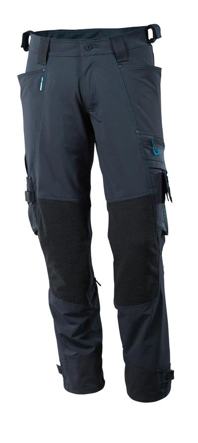 MASCOT® ADVANCED - mørk marine - Buks med Kevlar®/Dyneema® knælommer, firevejs-stretch, lav vægt.