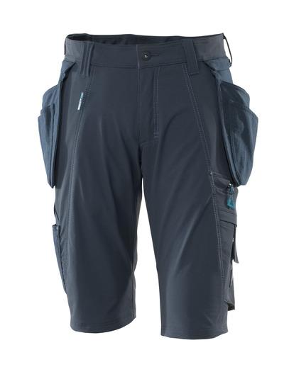 MASCOT® ADVANCED - mørk marine - Shorts med aftagelige CORDURA®-hængelommer, firevejs-stretch, lav vægt