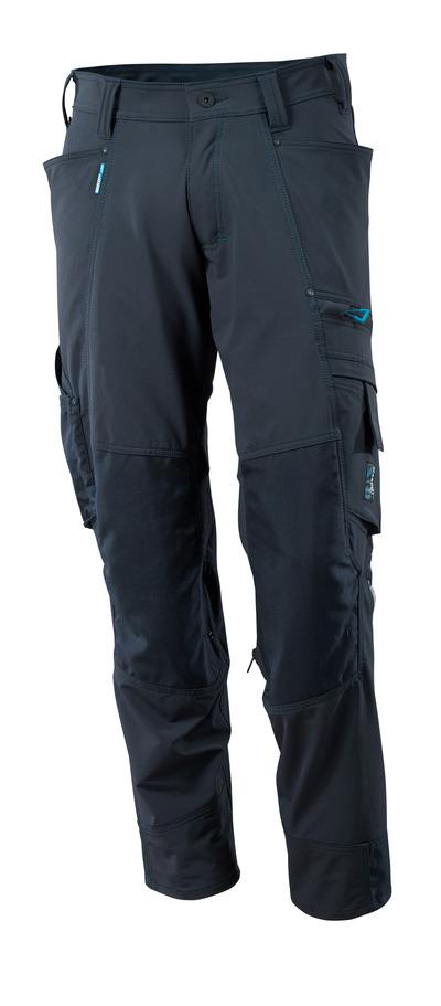 MASCOT® ADVANCED - mørk marine - Bukser med CORDURA®-knælommer, firevejs-stretch, lav vægt
