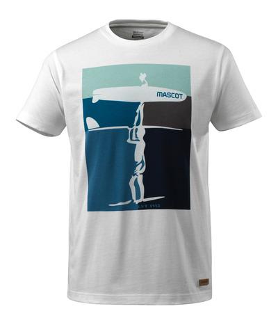 MASCOT® ADVANCED - hvid - T-shirt surfermotiv, moderne pasform