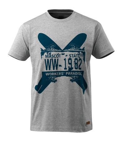 MASCOT® ADVANCED - grå-meleret - T-shirt to surfboards, moderne pasform