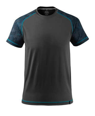 MASCOT® ADVANCED - sort - T-shirt, svedtransporterende, moderne pasform