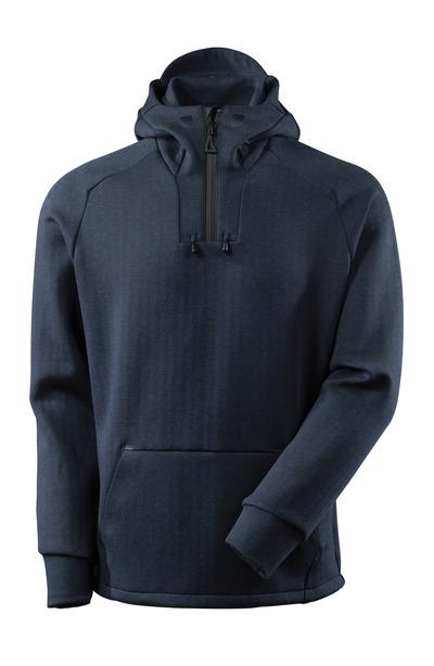 MASCOT® ADVANCED - mørk marine/sort - Hættetrøje med kort lynlås, moderne pasform