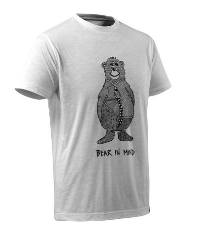 T-Shirt mit Bärenlogo und BEAR IN MIND-06