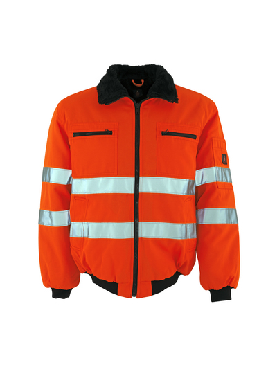 MASCOT® Alaska - hi-vis orange - Pilotjakke med pelsfór, vandafvisende, kl. 3