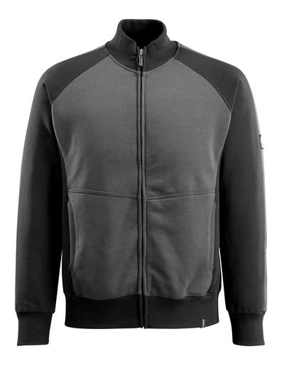 MASCOT® Amberg - mørk antracit/sort - Sweatshirt med lynlås, moderne pasform