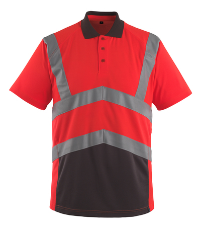 MASCOT® Anadia - hi-vis rød/mørk antracit - Poloshirt, moderne pasform, kl. 2
