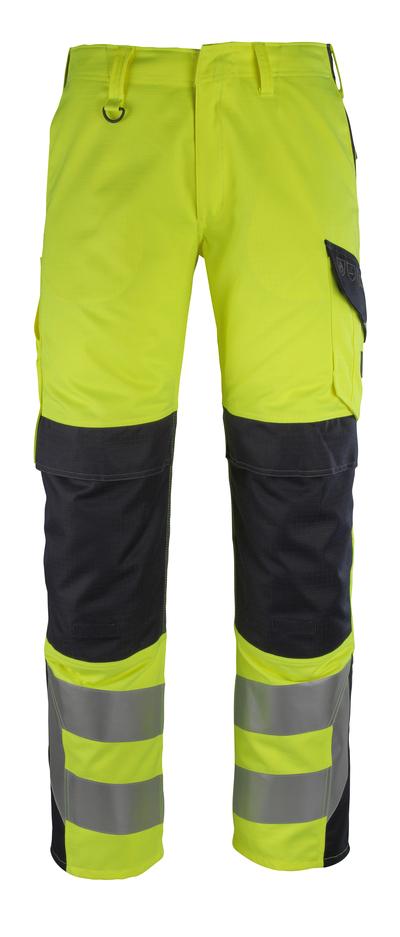 MASCOT® Arbon - hi-vis gul/mørk marine - Bukser med knælommer, multibeskyttelse, kl. 2