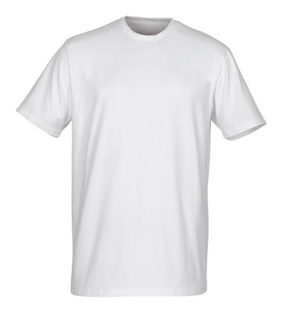 MASCOT® Argana - hvid - Undertrøje med lille V-hals og korte ærmer, moderne pasform