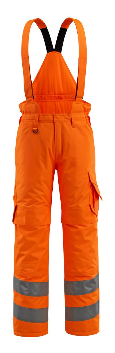 MASCOT® Ashford - hi-vis orange - Vinterbukser med quiltfór og aftagelige seler, vandtæt