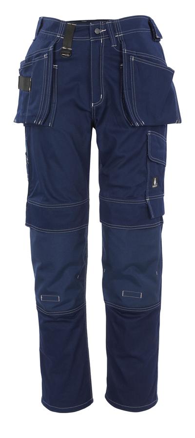 MASCOT® Atlanta - marine - Bukser med CORDURA®-knæ- og hængelommer, bomuld