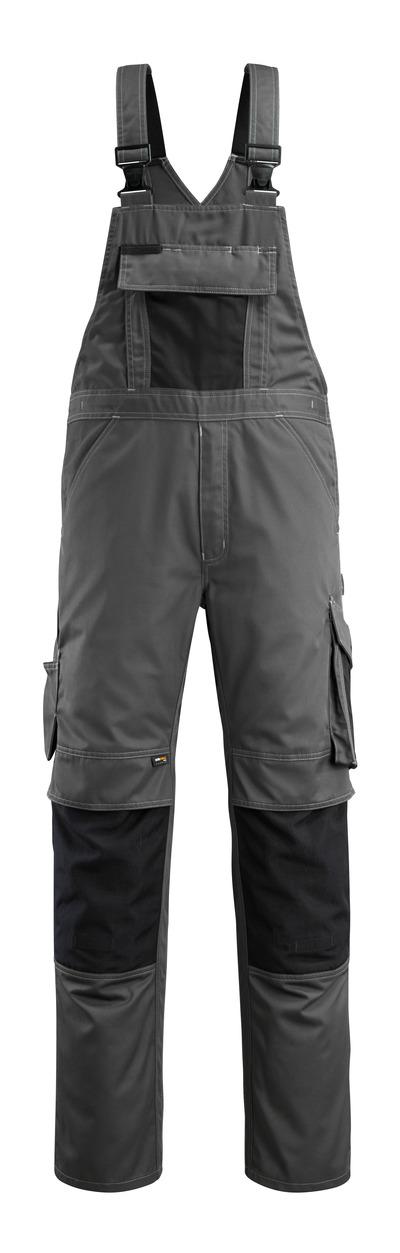 MASCOT® Augsburg - mørk antracit/sort - Overall med knælommer, lav vægt