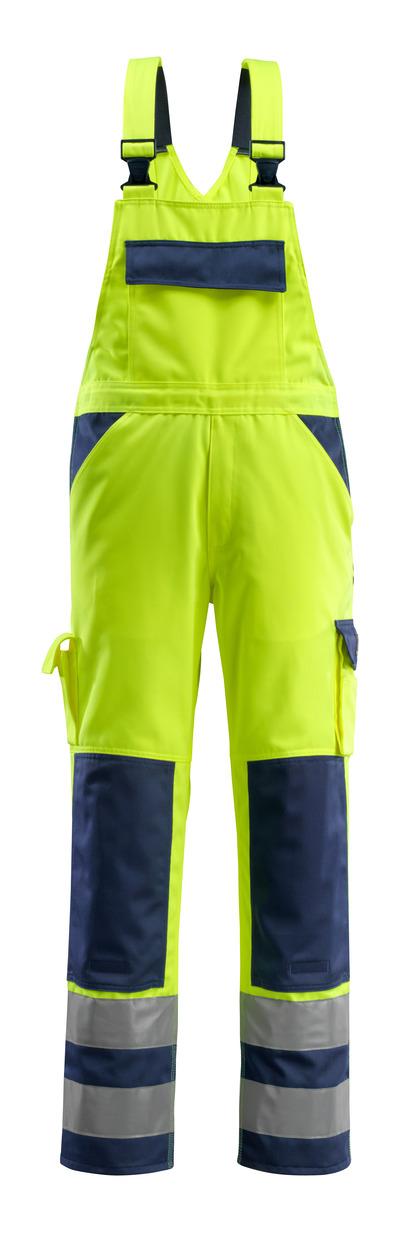 MASCOT® Barras - hi-vis gul/marine - Overall med knælommer, kl. 2