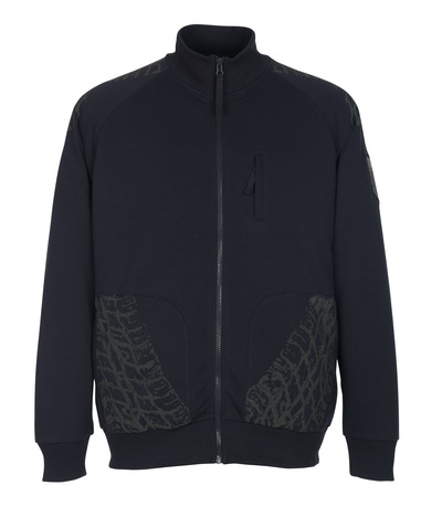 MASCOT® Belfort - mørk marine* - Sweatshirt med lynlås