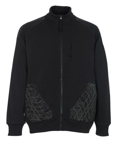 MASCOT® Belfort - sort* - Sweatshirt med lynlås