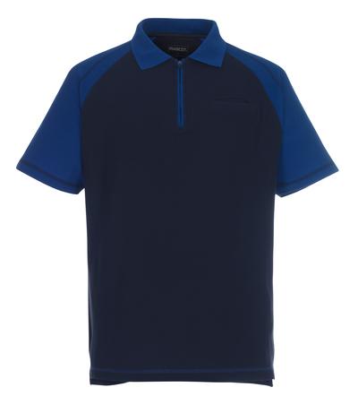 MASCOT® Bianco - marine/kobolt - Poloshirt med brystlomme og med lynlås, klassisk pasform