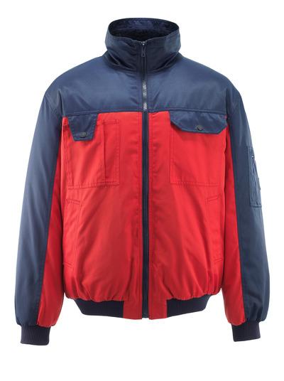 MASCOT® Bolzano - rød/marine - Pilotjakke med pelsfór, vandafvisende Bearnylon®