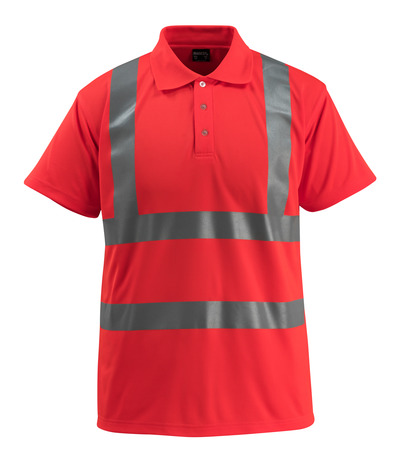 MASCOT® Bowen - hi-vis rød - Poloshirt, klassisk pasform, kl. 2