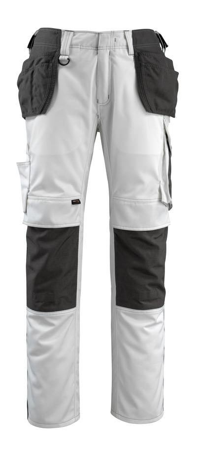 MASCOT® Bremen - hvid/mørk antracit - Bukser med CORDURA®-knæ- og hængelommer, høj slidstyrke