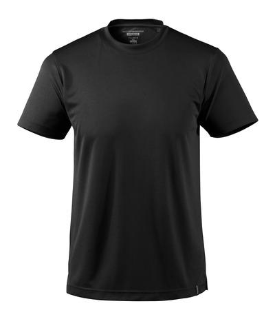 MASCOT® CROSSOVER - sort - T-shirt, svedtransporterende CoolDry, moderne pasform
