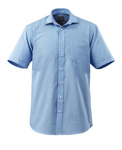 MASCOT® CROSSOVER - lys blå - Skjorte Oxford, klassisk pasform, korte ærmer.