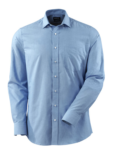 MASCOT® CROSSOVER - lys blå - Skjorte, oxford, moderne pasform