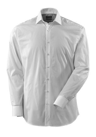 MASCOT® CROSSOVER - hvid - Skjorte, poplin, klassisk pasform