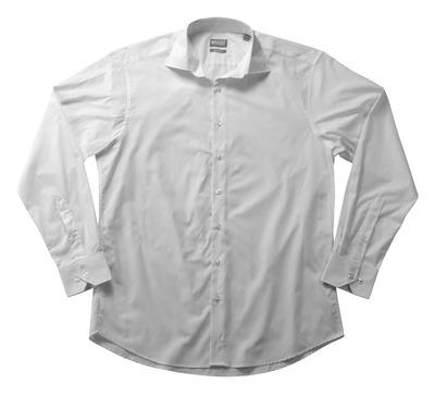 MASCOT® CROSSOVER - hvid - Skjorte poplin, klassisk pasform, lange ærmer.