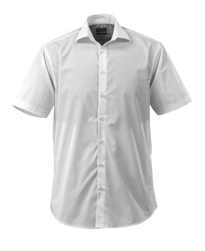 MASCOT® CROSSOVER - hvid - Skjorte, kortærmet, poplin, klassisk pasform