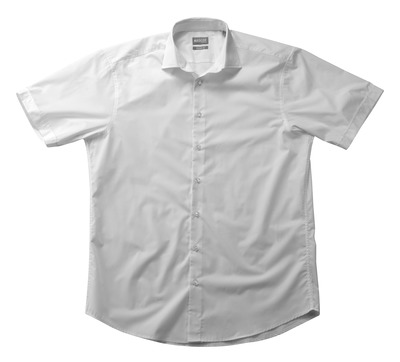 MASCOT® CROSSOVER - hvid - Skjorte poplin, klassisk pasform, korte ærmer.