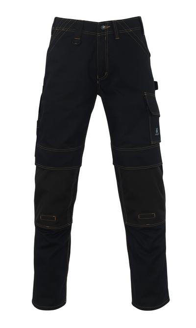 MASCOT® Calvos - sort - Bukser med CORDURA®-knælommer, høj slidstyrke