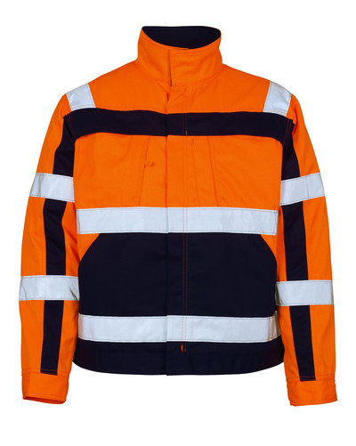 MASCOT® Cameta - hi-vis orange/marine - Jakke, høj slidstyrke, kl. 2