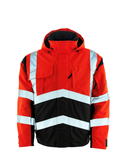 MASCOT® Camina - hi-vis rød/mørk antracit - Pilotjakke med quiltfór, vandtæt MASCOTEX®, kl. 2