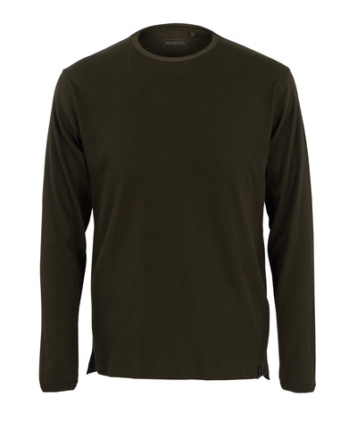 MASCOT® Crato - mørk oliven* - T-shirt, langærmet