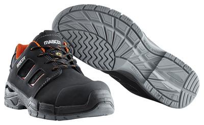 MASCOT® Diran - sort/mørk orange - Sikkerhedssko S3 med snørebånd