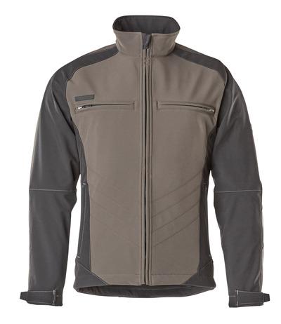 MASCOT® Dresden - mørk antracit/sort - Softshelljakke, vandafvisende, fleece på indersiden