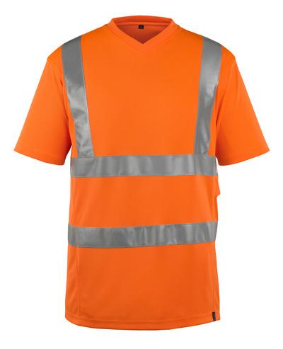 MASCOT® Espinosa - hi-vis orange - T-shirt, V-hals, moderne pasform, kl. 2