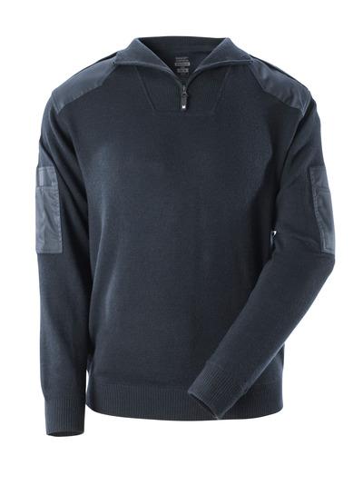 MASCOT® FRONTLINE - mørk marine - Striktrøje med forstærkninger, med uld.