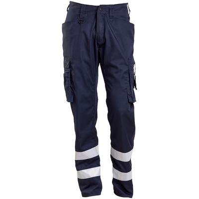MASCOT® FRONTLINE - mørk marine - Bukser med lårlommer, refleksbånd, meget lav vægt