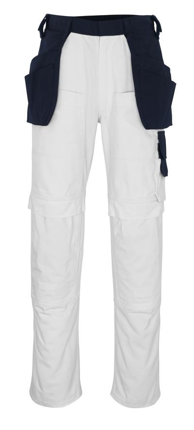 MASCOT® Fasano - hvid/marine* - Håndværkerbuks