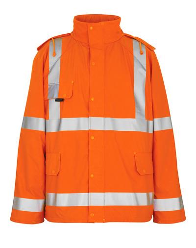 MASCOT® Feldbach - hi-vis orange - Regnjakke, vind- og vandtæt, kl. 3