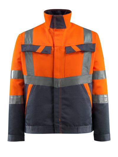 MASCOT® Forster - hi-vis orange/mørk marine - Jakke, lav vægt, kl. 2