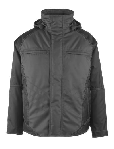 MASCOT® Frankfurt - mørk antracit/sort - Vinterjakke med quiltet fleecefór, vandtæt