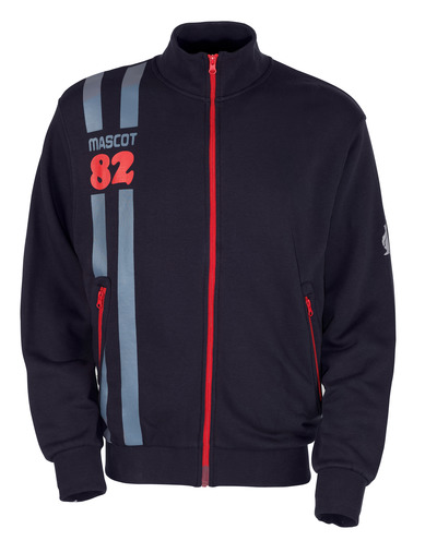 MASCOT® Fundao - mørk marine* - Sweatshirt med lynlås