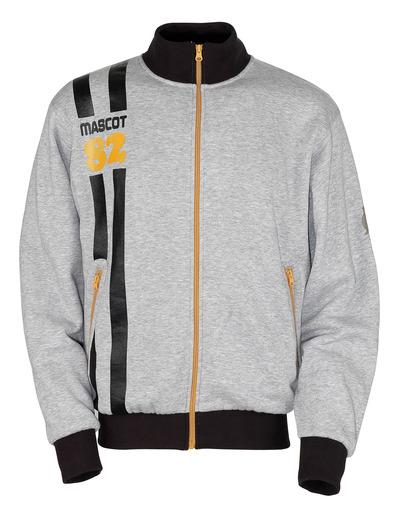 MASCOT® Fundao - grå-meleret* - Sweatshirt med lynlås