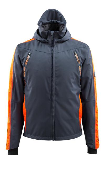 MASCOT® Gandia - mørk marine/hi-vis orange - Skaljakke med hi-vis kontrast, vandtæt