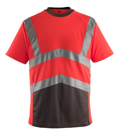 MASCOT® Gandra - hi-vis rød/mørk antracit* - T-shirt, moderne pasform, kl. 2