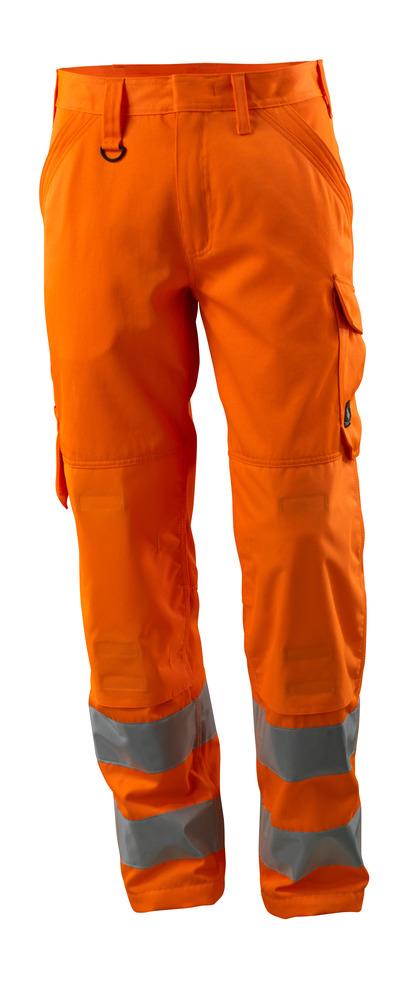 MASCOT® Geraldton - hi-vis orange - Buks med knælommer, ensfarvet, kl. 2