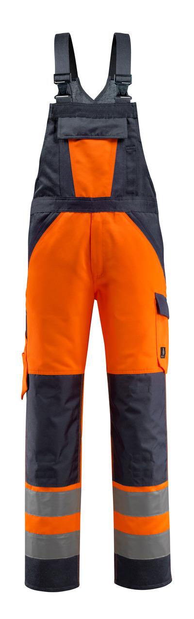 MASCOT® Gosford - hi-vis orange/mørk marine - Overall med knælommer, kl. 2